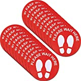 What you will get: you will receive 20 pieces social distancing floor sticker, these stand decals with bright background and white eye-catching letters of Please Wait Here, which can easily get noticed Size and material: the size of safety floor sign...