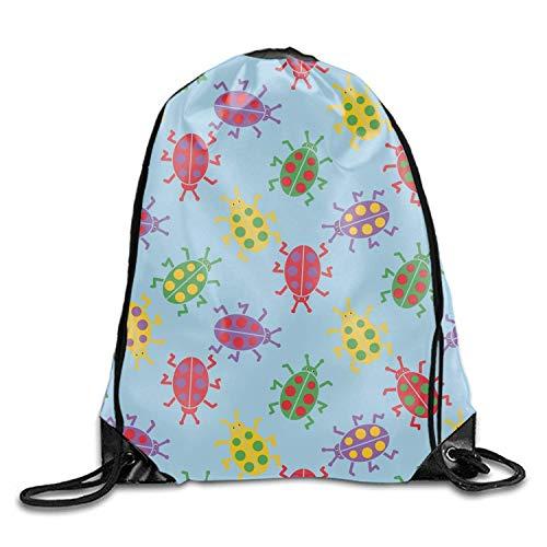 engzhoushi Turnbeutel,Sporttaschen,Schultasche Cute Colorful Bugs Oxford Fabric Shoulders Buggy Bag