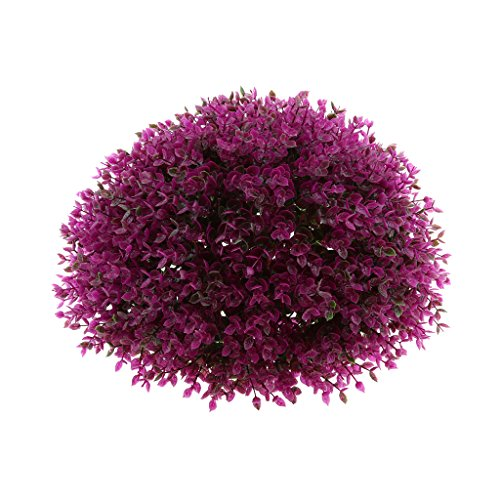 Fityle Artificial Topiary Trees Ball Shaped Indoor/Outdoor Faux Plants Ball Decorations - Purple 34cm