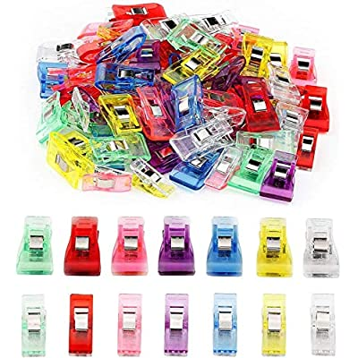 Amazon - Save 80%: Sewing Clips for Fabric, Multicolor Binding Clips for Craft Clamps, Crochet an…
