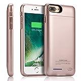 Yishda Ultra Fin Batterie Externe Coque Chargeur Portable étui de Chargement pour Apple iPhone 5.5Inch [4200mAh] Rose Gold Battery Case for Iphone 8+/7+/6S+/6 Plus