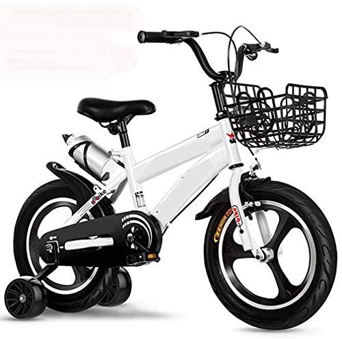 HUAQINEI Nuevas Bicicletas para niños, Llantas de aleación de Aluminio, Bicicletas de montaña, niños y niñas, Llantas para niños, Bicicletas, Verde, 14 Pulgadas