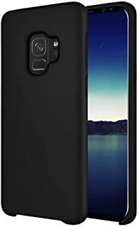 Lamzu Galaxy S9 Case, Soft Smooth Shockproof Silicone Rubber Case with Soft Fiber Lining Compatible with Samsung Galaxy S9, Black