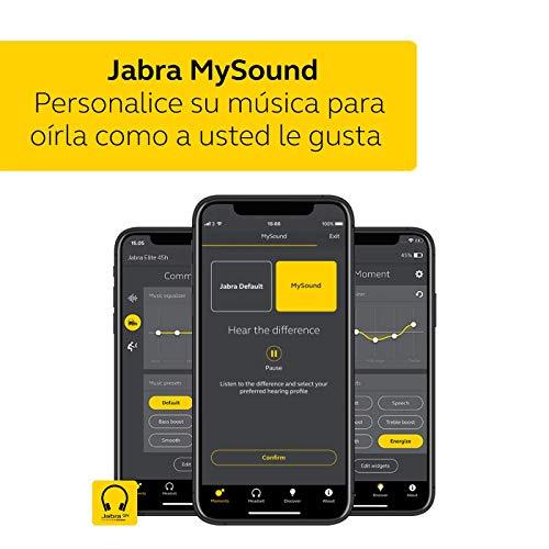 Jabra Elite 45h – Auriculares inalámbricos On-Ear compactos y Plegables – hasta 50 Horas de batería – tecnología de Llamadas a Dos micrófonos – Color Negro, Ajustable