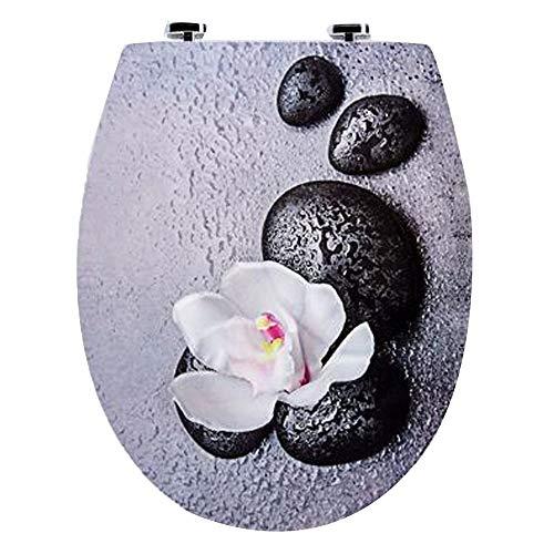 Liul WC-Sitz Orchidee/Toilettensitz/Toilettendeckel/Klodeckel/WC-Deckel/Thermoplast / KSDSC100,42.5-47 * 37 * 9-18cm