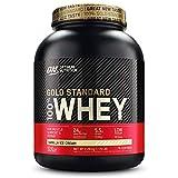 Optimum Nutrition ON Gold Standard 100% Whey Proteína en Polvo Suplementos Deportivos, Glutamina y Aminoacidos, BCAA, Helado de Vainilla, 76 Porciones, 2.28 kg, Embalaje Puede Variar