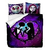 OliveSleep Juego de funda de edredón para decoración de Halloween, 3 piezas con 2 fundas de almohada de regalo (multicolor 1, individual)
