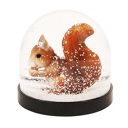 &Klevering Witzige Schüttelkugel Schneekugel hochwertig mit Eichhörnchen 8 x Ø 8.5 cm