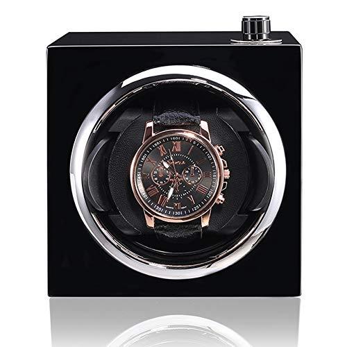 zyy Bobinadora for Relojes Silencio Motor Monitor Reloj Almacenamiento Mecánico Reloj Giratorio De Cuerda Automática Caso Caja De Reloj con Automático Devanado Cable USB (Color : Black)