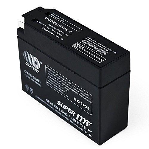 WPHMOTO YT4B-5 GT4B-5-BS 12V 2.3Ah AGM Battery for 2001-2009 Yamaha SR400 VINO YJ50R