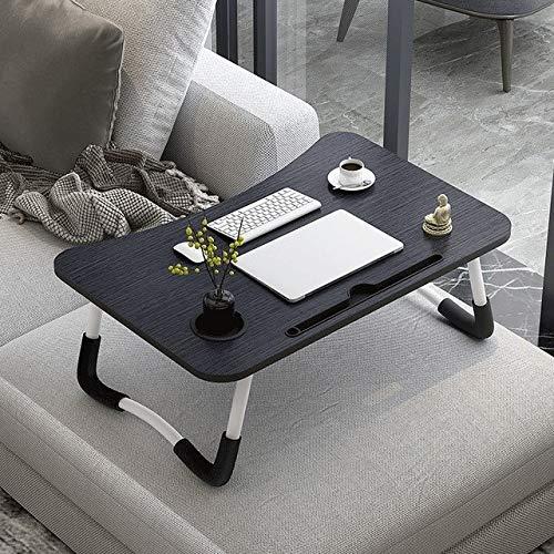 XXG Mesa auxiliar para portátil, escritorio, desayuno, bandeja ajustable plegable con tapa...