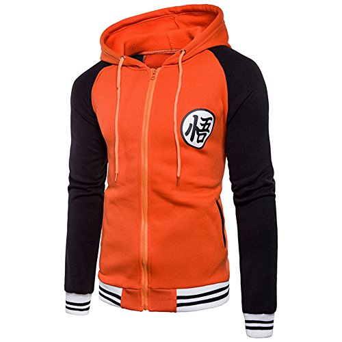 PIZZ ANNU Sudadera con Capucha Dragon Ball Z Son Goku Zip-Up para...