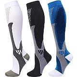 Compression Socks 20-30 mmHg for Men Women Medical Nurses Athletic Travel Large-X-Large
