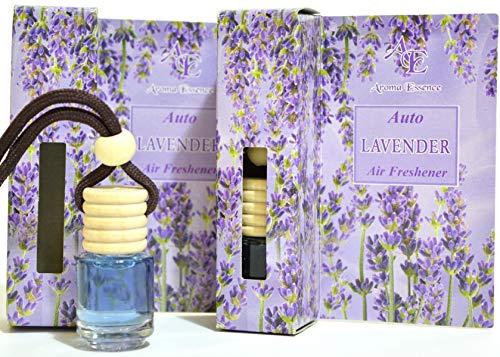 Deodorante per auto alla lavanda, confezione da 2 pezzi, calmante, fragranza fresca e aromaterapia
