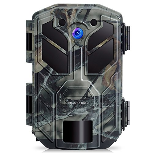 APEMAN Trail Camera 30MP 4K Hunting Cameras, 40 PCs IR LED Vivid Night Vision Wildlife Camera, Game...