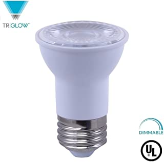 TriGlow T95058 LED PAR16 Reflector Bulb, 7W (50W Equivalent), DIMMABLE 4000K (Cool White) 500 Lumens, Flood 40 Degree LED Bulb