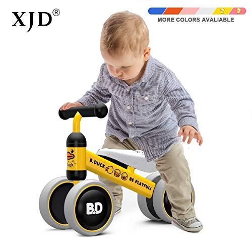XJD Baby Balance Laufrad 10-24 Monate ohne Pedale mit 4 Räder Ultraleicht & Erstes Fahrrad (Gelb Ente)