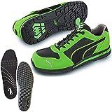 [プーマ] 安全靴 エアツイスト 26.0cm グリーン 中敷き インソール付セット 64.322.0