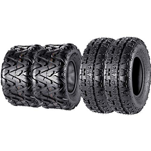 Set of 4 Sport ATV Tires 21x7-10 Front & 20x10-9 Rear UTV Tire 21x7x10 20x10x9, 6PR