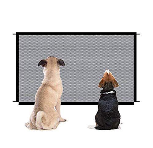 Parkarma Cancello per Cani Barriere per Cani Facile da Installare Portatile Pieghevole Dog per Cani Porta e Cancelletto per Bambini, Cani e Gatti (72-180cm)