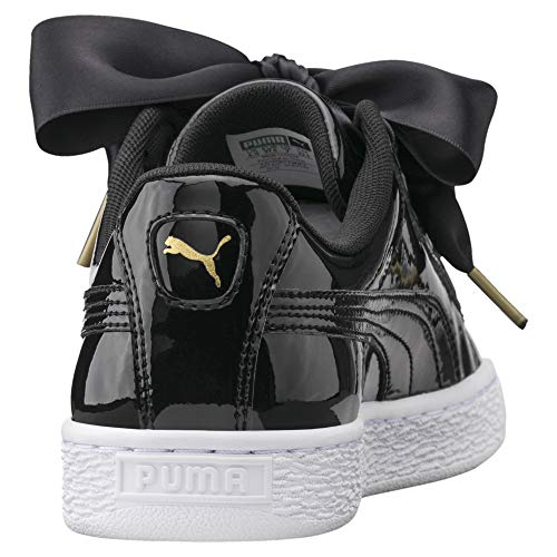 Puma Basket Heart Patent Low-Top Sneaker, Schwarz - 3