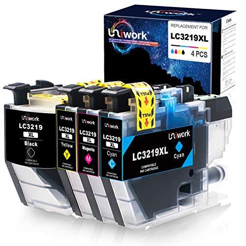 Uniwork LC3219XL Druckerpatronen Kompatibel für Brother LC3219 XL für Brother MFC-J5330DW MFC-J5335DW MFC-J5730DW MFC-J5930DW MFC-J6530DW MFC-J6930DW MFC-J6935DW (1 Schwarz, 1 Cyan, 1 Magenta, 1 Gelb)