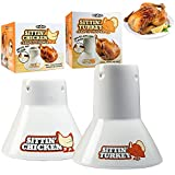 Cook's Choice Ceramic Steamer Beer Can Roasters Combo Pack- Sittin' Chicken and Turkey Marinade Barbecue Cookers- Infuse BBQ flavors