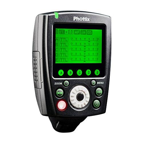 Phottix 89069 - Disparador de Flash Remoto, emisor para Nikon, Color Negro