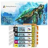 Printing Pleasure PGI-570 CLI-571 5 Cartuchos de Tinta PGI-570XL CLI-571XL Compatible para Canon Pixma TS5050 MG5750 MG5751 TS6050 TS8050 TS9050 MG6850 MG6851 MG7750 TS5051 TS5053 TS6051 TS6052