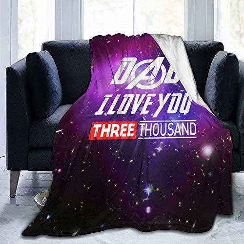 Dad I Love You 3000 Decken für Betten Sofas Warm und Bequem Flanell Leichte Decken (Herren und Damen)