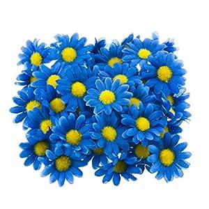 "Silk Flower Arrangements Funbase 50Pcs 1.5"" DIY Daisy Small Artificial Wedding Head Silk Flower(NO Stems)"