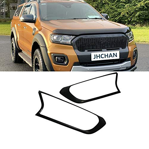 JHCHAN Scheinwerferabdeckung Frontlampe Schutzabdeckung für Ford Ranger T7 T8 2015-2020 Wildtrak XL XLT Limited 2 PX MK2 MK3 (2015-2020 Scheinwerferabdeckung)