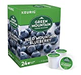 Green Mountain Coffee Pods K-Cups For Keurig Machines Flavored K Cup (All Count Fresh Capsules) Light / Medium / Dark Roast Long Expiry ALL FLAVORS (24 K-Cups Wild Mountain Blueberry)
