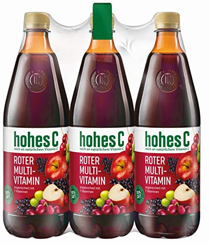 hohes C Roter Multivitaminsaft - 100% Saft, 6er Pack (6 x 1 l)