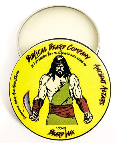 Biblical Beard Company Beard and Mustache Wax - Ancient Altars Scent - Made in USA