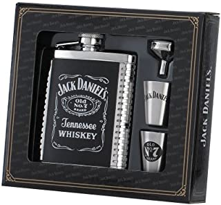 Jack Daniels Licensed Barware 8471 Label Gift Set, 6 oz./1 oz, Silver