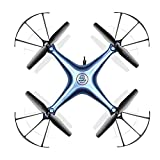 SYMA X5HW WiFi FPV Drone con Cámara HD Live Video Altitude Hold Función 2.4Ghz 4CH RC Quadcopter Blue.ZHA-GOO