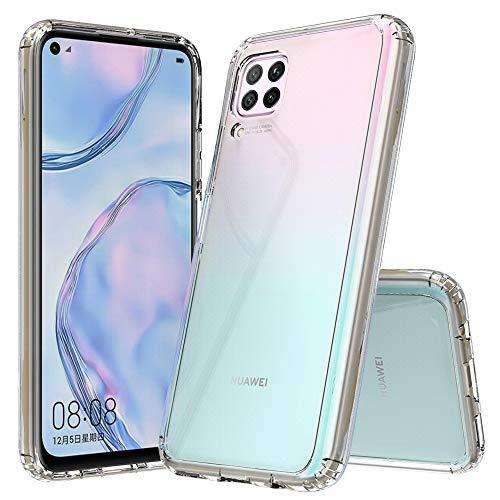 betterfon | Huawei P40 Lite Hülle Stoßfeste Outdoor Transparent Cover Handy Tasche Silikon Hülle TPU Silikon Kristal Schutzhülle für Huawei P40 Lite