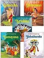 My First Mythology Tale (Illustrated) (Set of 5 Books) - Mahabharata, Krishna, Hanuman, Ganesha, Ramayana - Story Book...