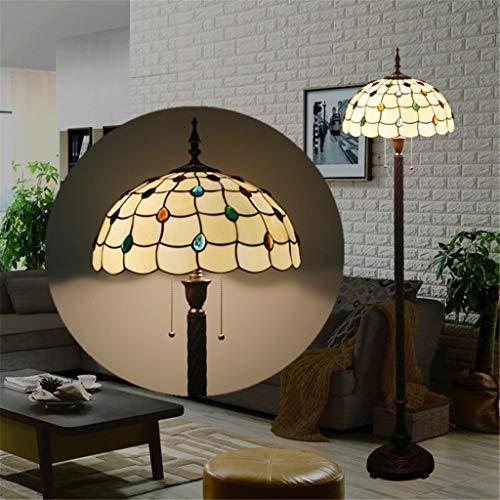 Echo Times vloerlamp Tiffany 16 inch glazen lamp vloerlamp woonkamer werkkamer slaapkamer vloerlamp vintage creatief