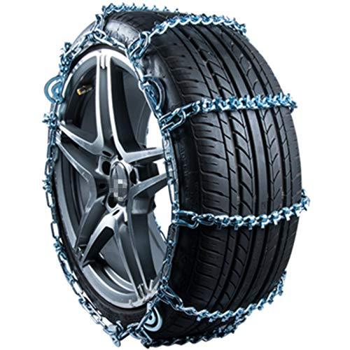 LIXUDECO Cadenas de nieve para neumáticos de auto, cadenas de nieve fortalecidas SUV camión ligero seden coche pequeño universal 1146 1814 1818 1822 1830 (nombre del color: 1830)
