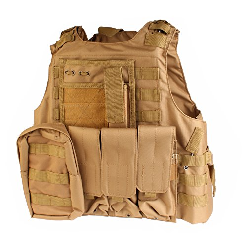 PMLAND Tactical Molle Airsoft Vest Paintball...