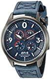 AVI-8 Men's Lancaster Bomber 44mm Blue Leather Band Quartz Watch AV-4050-06
