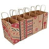 TOYANDONA Lot de 6 sacs à main de Noël pour fête de Noël