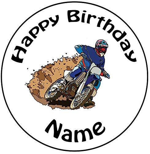 Motocross 24 Personalisierte Vorgeschnittene Kreise – Essbare Cupcake Aufleger / Geburtstagskuchen Dekorationen - 2