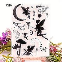 ホット販売翼妖精透明クリアスタンプ/シリコーンシールローラースタンプDIYスクラップブッキングフォトアルバム/カード作成