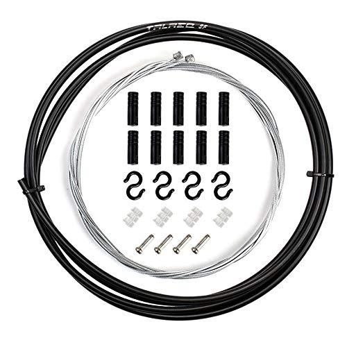 Câble de Frein de Vélo, Changement de Vitesse de Vélo Ensemble de Ligne de Frein Vélo de Vélo de Dérailleur de Changement de Vitesse Câbles (Black)