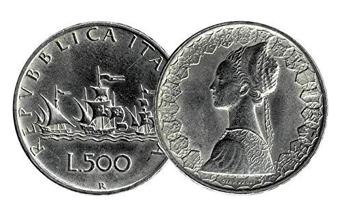 LaVecchiaScatola Repubblica 500 Lire 'Caravelle' in Argento 835 (11gr)