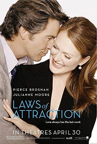 "LAWS OF ATTRACTION - 27""X40"" D/S Original Movie Poster One Sheet 2004 Pierce Brosnan Julianne Moore"