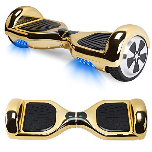 Windgoo Hoverboard Scooter Elettrico Autobilanciato, con Bluetooth e Luci LED, Ruote 6,5 Pollici, Motore 2 x 250W